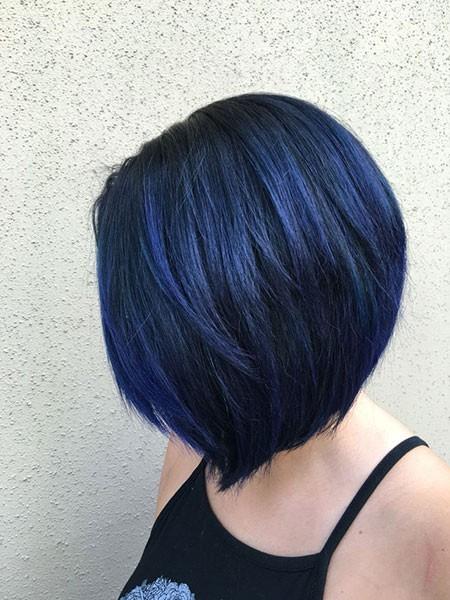 Layered-Bob-Style Best Short Blue Hair