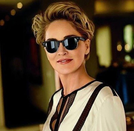 Layered-Hair New Sharon Stone Short Hairstyles