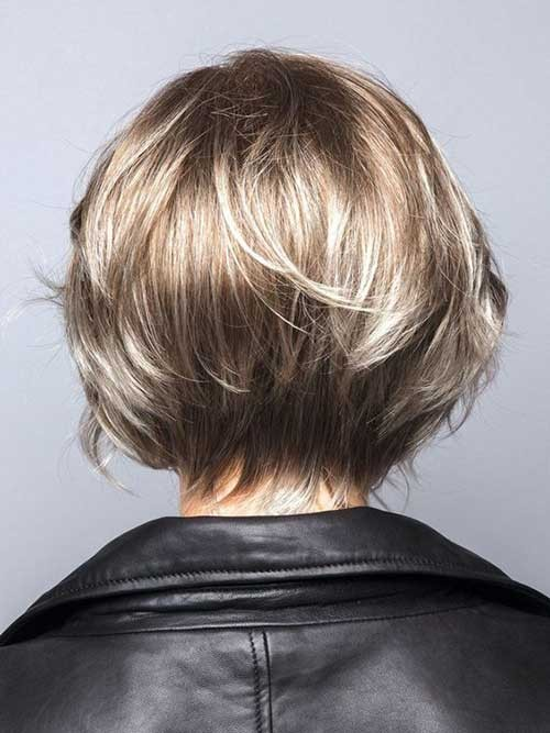 Layered-Short-Bob-Back-View Latest Bob Haircuts for 2018