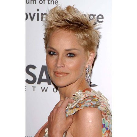 Mohawk-Hairstyle New Sharon Stone Short Hairstyles