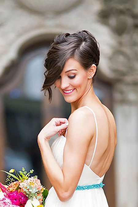 Pixie-Hair-for-Wedding Bridal Hairstyles for Short Hair