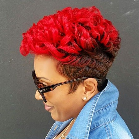 Red-Short-Hairstyles-for-Black-Women Best Short Hairstyles for Black Women