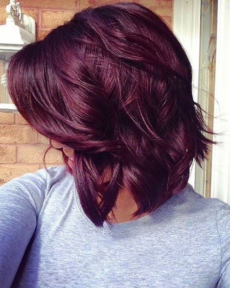 Red-Violet-Hair-Color Best Short Hair Color Ideas
