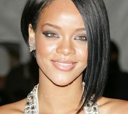 Rihanna's Fabulous Asymmetric Bob Haircut