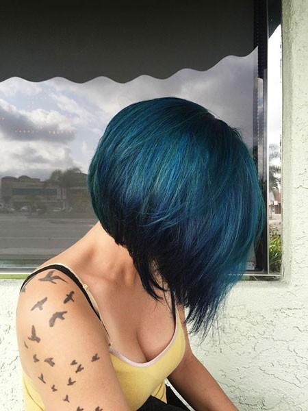 Round-Bob Best Short Blue Hair