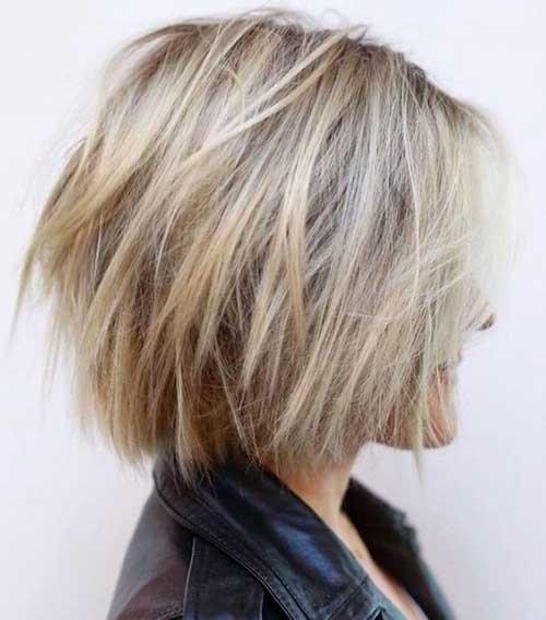 Short-Blonde-Bob-Haircut Latest Bob Haircuts for 2018