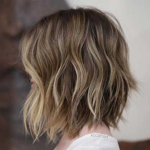 Short-Brown-Hair-with-Highlights Latest Bob Haircuts for 2018