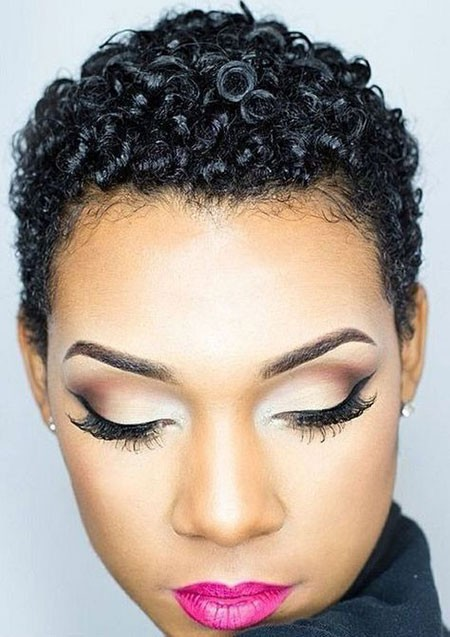 Short-Curly-Hairtyles-for-Black-Women Short Natural Haircuts for Black Women