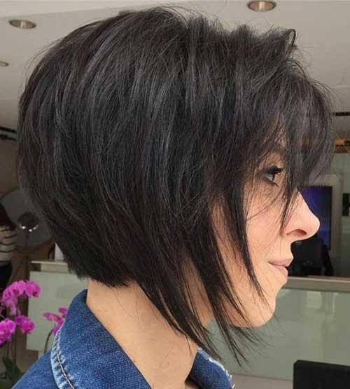 Short-Dark-Brown-Hair Latest Bob Haircuts for 2018