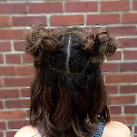 Short-Hair-Pigtail-Buns Short Cute Hairstyles