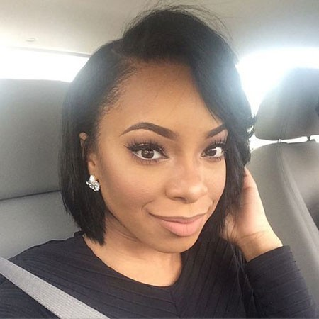 Short-Hair-with-Bangs-2 Cute Short Hairstyles for Black Women