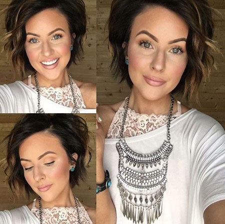 Short-Haircuts-Curly-Bobs Popular Short Brunette Hairstyles