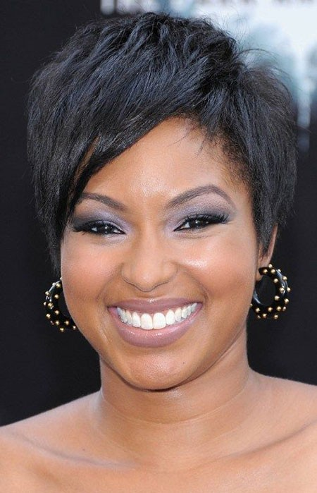 Short-Haircuts-for-Older-Black-Women-2018 Short Haircuts for Black Women with Round Faces