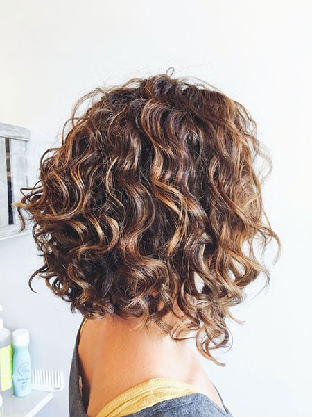 Shoulder-Length-Bob Hairstyles for Short Curly Hair