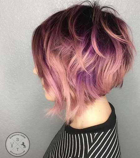 Soft-Pinky-Hair Best Short Hair Color Ideas
