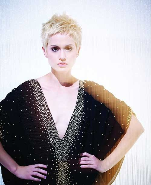Thin-Fine-Blondie-Hair-Pixie-Cut-Style Best Short Haircuts for Straight Fine Hair