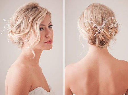 Updo-Hairtyle Bridal Hairstyles for Short Hair