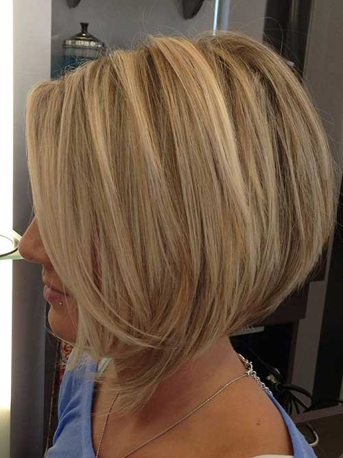 Blonde-Bobed-Hairstyle-for-Women Short Stacked Bob Hairstyles