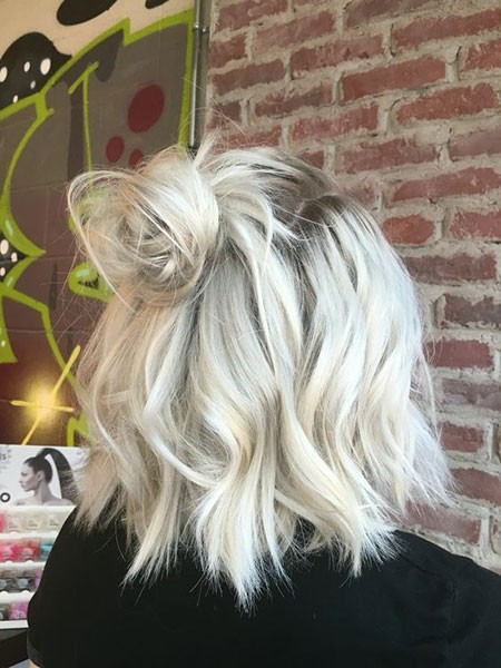 Blonde-Updo-Hair Cute And Easy Hairstyles for Short Hair