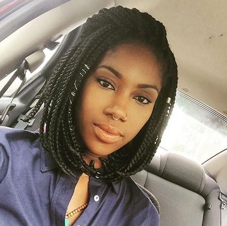 Box-Braids-Hairstyle Short Hairstyles for Black Women 2018