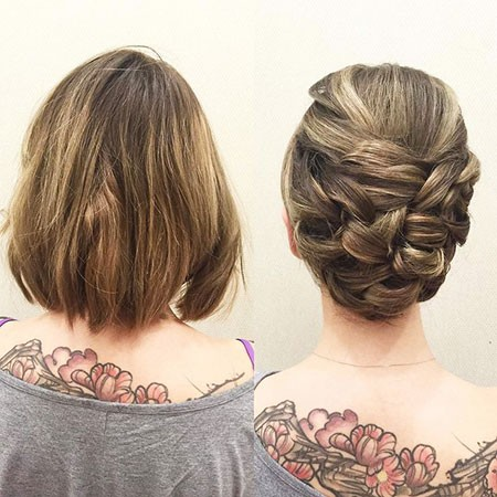 Braided-Updo Nice Updos for Short Hair