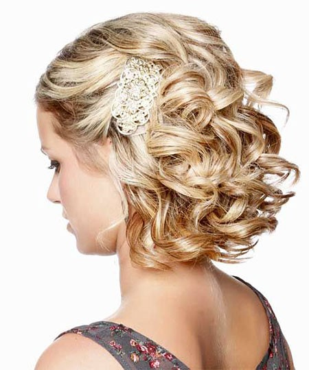 Bridesmaid-Hairstyle Nice Updos for Short Hair