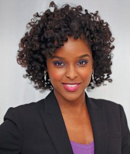 Curly-Bob-Hair Short Curly Haircuts for Black Women