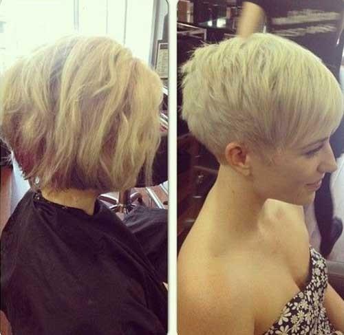 Cute-Blonde-Pixie-Hair-Style Best Short Pixie Cuts