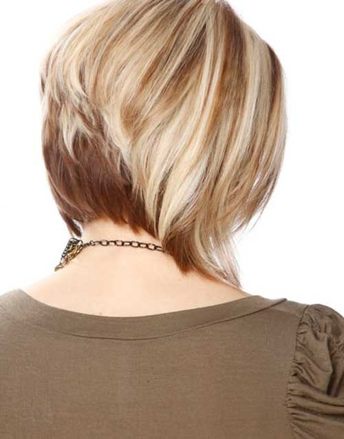 Gorgeous-Two-Colored-Stacked-Bob-Haircut-for-Women Short Stacked Bob Hairstyles