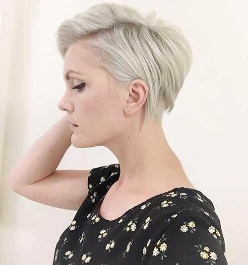 Light-Blonde-Straight-Short-Pixie Best Short Pixie Cuts
