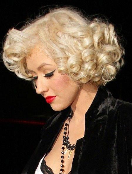 Marilyn-Monroe-Hairtyle-for-Long-Hair Short Curly Blonde Hair Ideas