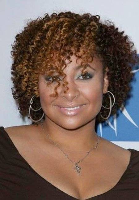 Mid-length-Curly-Hair Short Curly Haircuts for Black Women