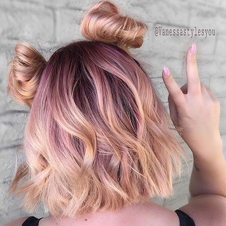 Rose-Gold-Short-Hair New Short Hair with Color