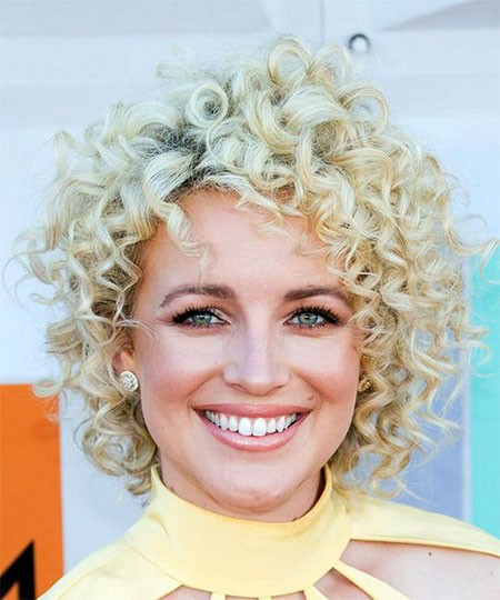 Shaggy-Style Short Curly Blonde Hair Ideas