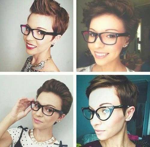 Short-Brown-Pixie-Hair-Style-Idea Best Short Pixie Cuts
