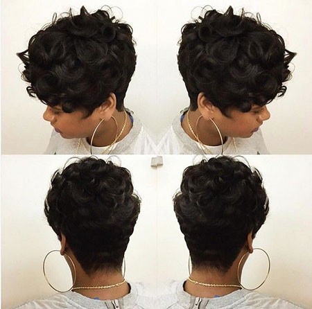Short-Curly-Pixie-Cut Short Hairstyles for Black Women 2018