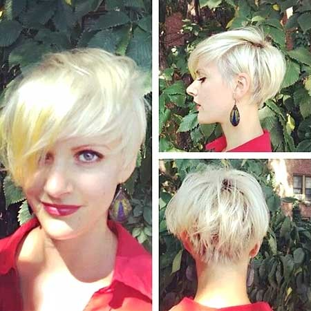 Short-Hairdo-with-Long-Asymmetrical-Side-for-Girls Long Pixie Hairstyles