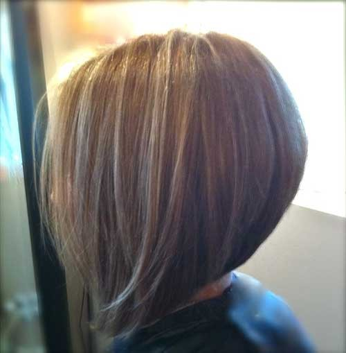Simple-Graduated-and-Stacked-Bob-Hairstyle Short Stacked Bob Hairstyles
