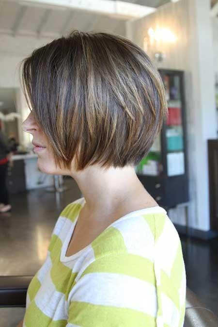 Straight-Line-Simple-Bob Layered Bob Haircuts