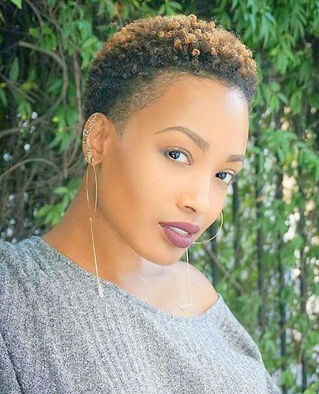 Super-Short-Hair Short Hairstyles for Black Women 2018