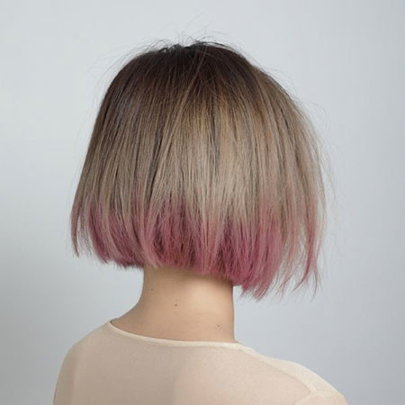 11-Short-Hair-Ombre-Purple-609 Blonde And Pink Ombre Hair
