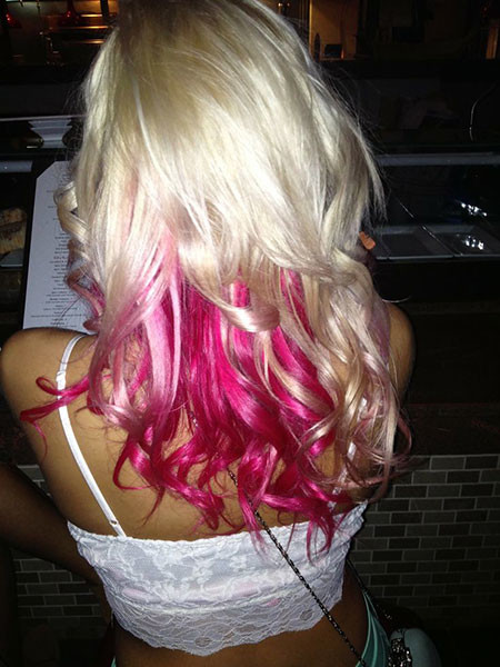 12-Hot-Pink-Hair-and-Blonde-610 Blonde And Pink Ombre Hair