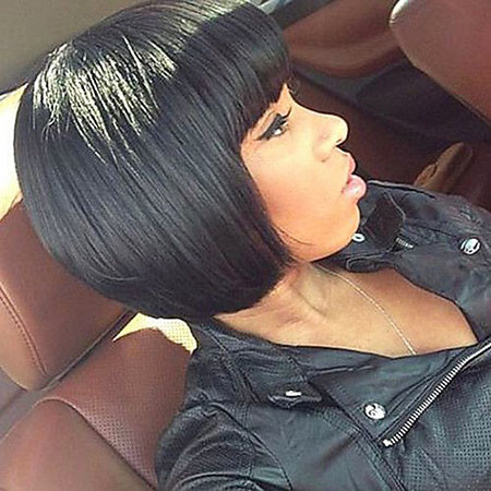 16-Short-Bob-with-Chinese-Bang-408 Short Haircuts for Black Women