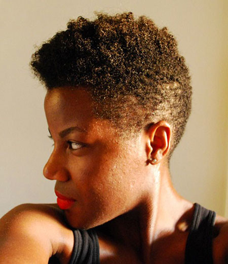 28-Black-Women-Natural-Hair-Mohawks-420 Short Haircuts for Black Women