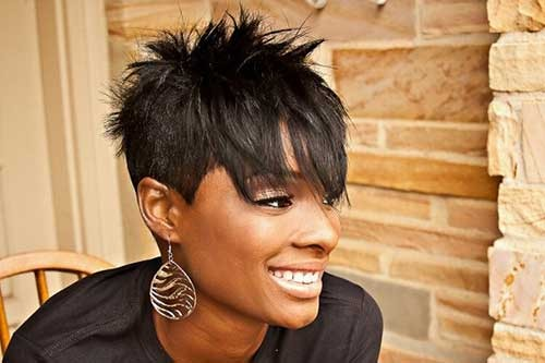 Best-Spiked-Black-Women-Hairstyle Spiky Short Haircuts