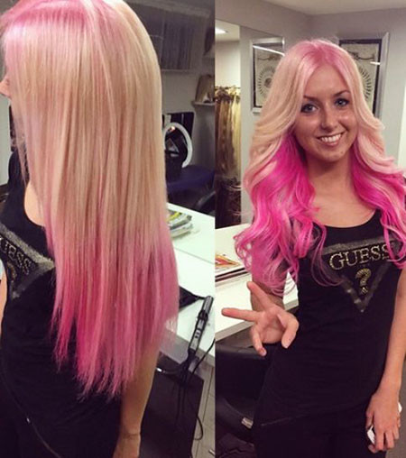 Blonde-and-Pink-Ombre-Hair Blonde And Pink Ombre Hair