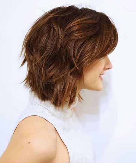 Caramel-Brown-Teenagers-Hair Trendy Short Haircuts for Women