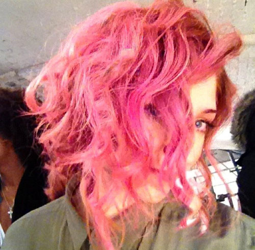 Celebrity-pink-hair-color Celebrity hairstyles for short hair