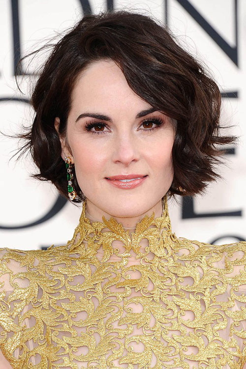 Celebrity-short-wavy-hairstyle Celebrity hairstyles for short hair