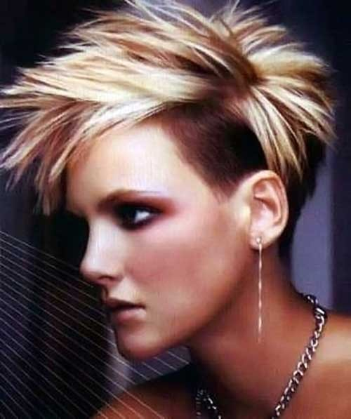 Cool-Spiky-Pixie-Hairstyle-with-Undercut Spiky Short Haircuts